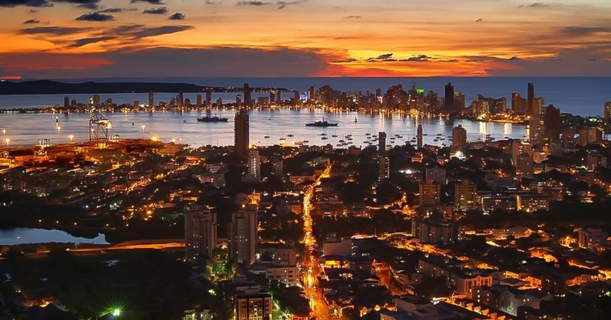 Cartagena Colombia City @ Night